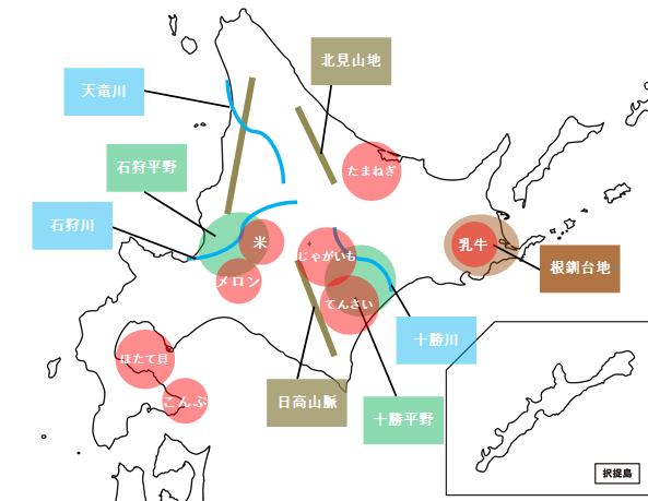 中学社会北海道地方の概要
