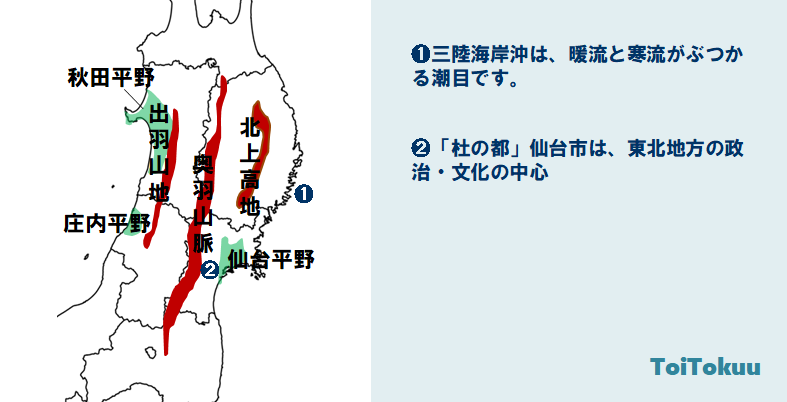 東北地方(中学地理)