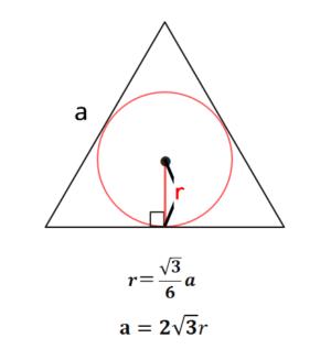 正三角形に内接する円の半径