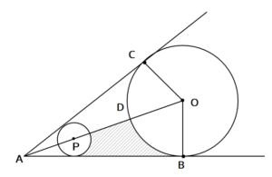 おうぎ形と三平方の定理